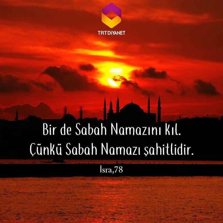 """763 Beğenme, 2 Yorum - Instagram'da TRT Diyanet (@trtdiyanet): """"Bir de Sabah Namazını Kıl. Çünkü Sabah Namazı şahitlidir. İsra, 78 #TRTDiyanet"""""""