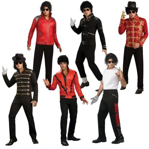Men Costumes: Michael Jackson Costume Adult 80S Pop Star Halloween Fancy Dress Outfit -> BUY IT NOW ONLY: $32.19 on eBay!