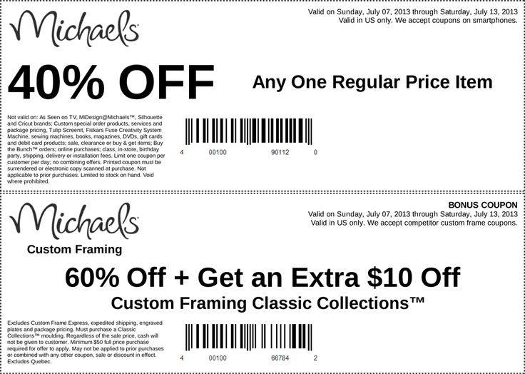 pinned july 12th 40 off a single item at michaels coupon via the coupons