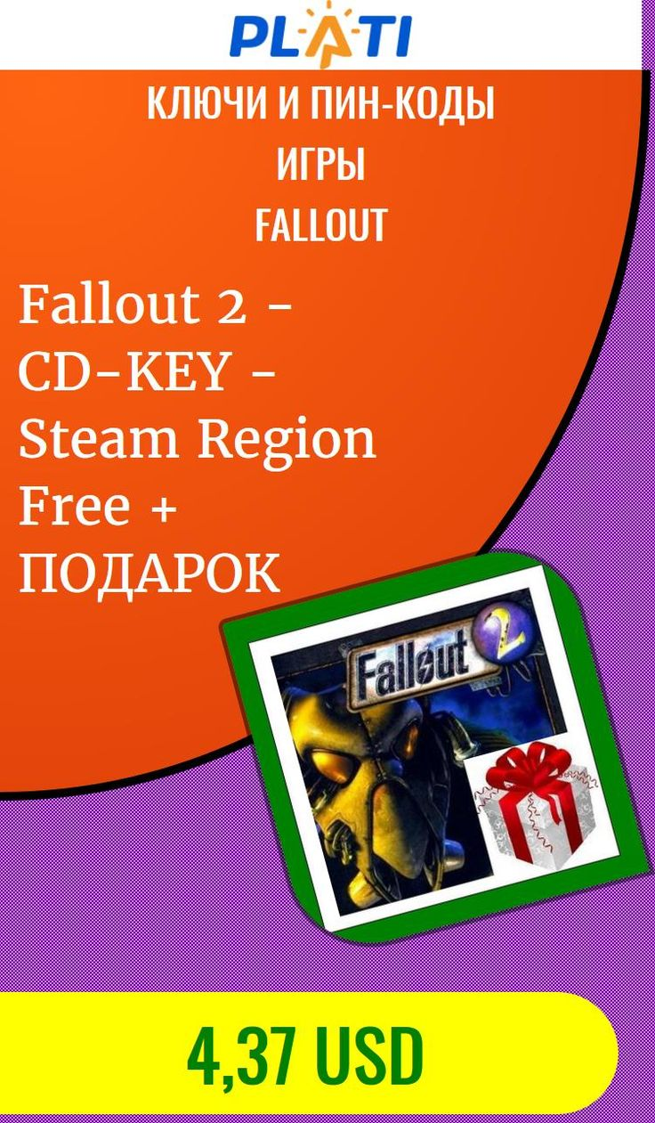 Fallout 2 - CD-KEY - Steam Region Free   ПОДАРОК Ключи и пин-коды Игры Fallout