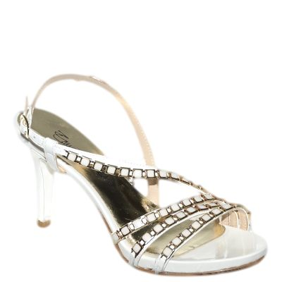 #Sandalo in vernice bianca con rifiniture oro di #EmanuelaPasseri  http://www.tentazioneshop.it/scarpe-emanuela-passeri/sandalo-4037-bianco-emanuela-passeri.html