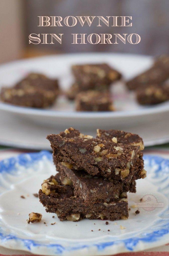 Brownie Sin Horno y Sin Microondas