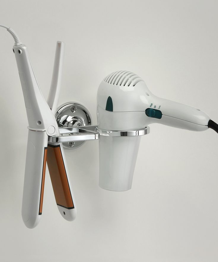 Taymor Combination Flat Iron & Blow Dryer Holder, DIY idea, hair care, how cool is this?