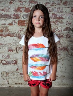 Buy Minti Capped Tee Feathers