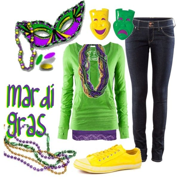 Mardi Gras! - Casual Party outfit for Mardi Gras (What to wear - Mardi Gras)