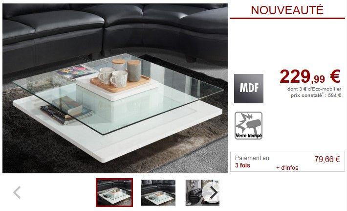 Table Basse Isania Verre Trempe Et Mdf Blanc Table Basse Vente Unique Ventes Pas Cher Com Table Basse Table Verre Trempe