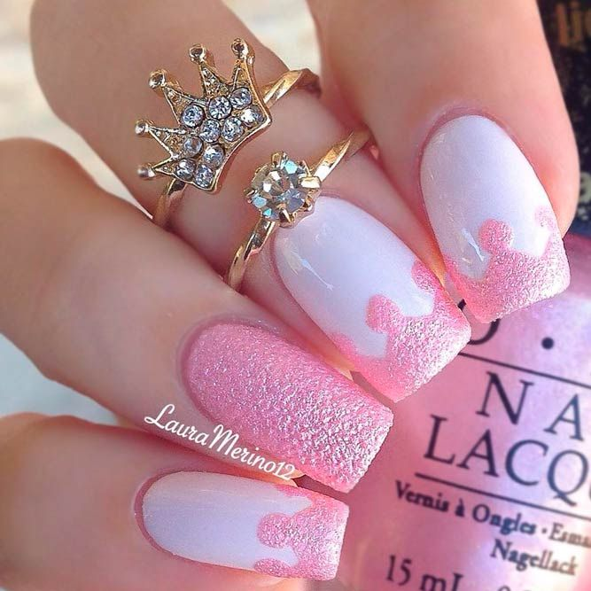 217 best nail art images on pinterest nail design nail scissors 21 soft and feminine designs for pink and white nails every girl will secretly adore prinsesfo Image collections