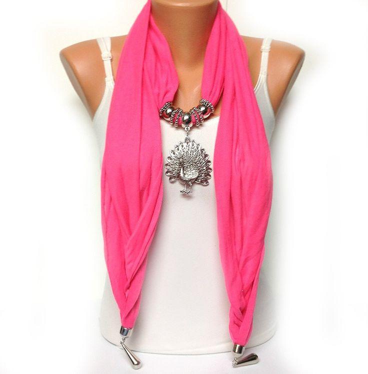 bufanda de la joyera de rosa de nen color slido por bienbijou