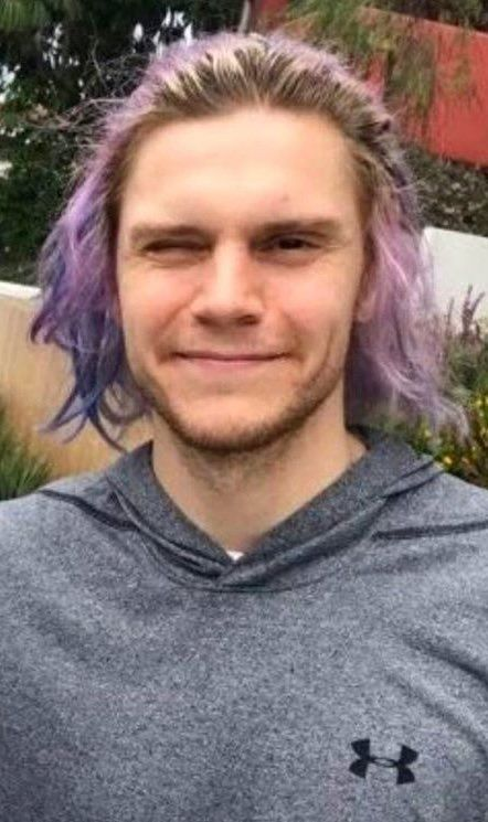 NEW | From Blue to PURPLE! What's going on Evan? Can't wait for Season 7!!! Follow rickysturn/evan-peters