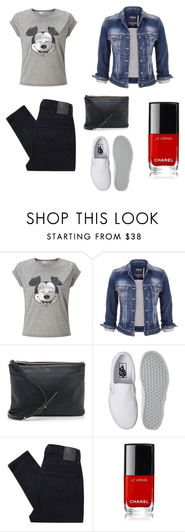 Smile by leenap on Polyvore featuring Miss Selfridge, maurices, Nobody Denim, Vans and CÉLINE