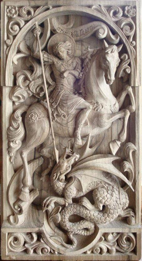 "St. George ""Golden Legend"" ~ Defeating the Dragon near Silena, Libya"
