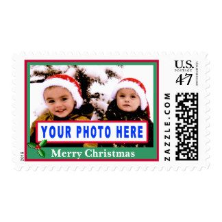 Custom Christmas Postage Stamps 2014 YOUR PHOTO and TEXT