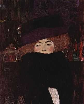 Femme au chapeau, par Gustav Klimt