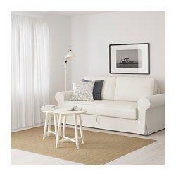 IKEA - BACKABRO, Divano letto a 3 posti, Nordvalla grigio scuro, , Le molle insacchettate si adattano al tuo corpo e tengono dritta la spina dorsale mentre dormi.Un materasso rigido, che ti offre un buon sostegno ed è utilizzabile tutte le notti.Fodera in misto cotone/poliestere, un tessuto resistente, dalla trama ben definita.Nel contenitore sotto il sedile puoi organizzare, per esempio, la biancheria da letto.La fodera è facile da tenere pulita poiché è asportabile e lavabile in lavat...