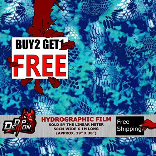 Lm Brite Aqua Blue Criptic-Flauge Hex Camo Hydrographic Water Transfer Film Hydro Dipping Dip by DIP DEMON, http://www.amazon.com/dp/B01M3V6YVE/ref=cm_sw_r_pi_dp_x_63sGzbR3X1FR9