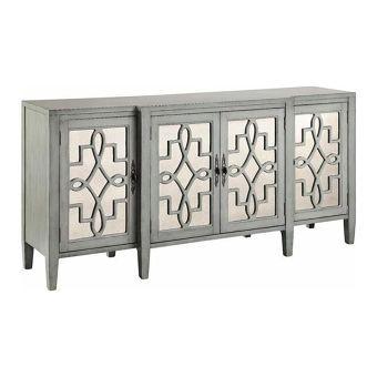 Lawrence 4-Door Credenza in Slate Grey | Nebraska Furniture Mart