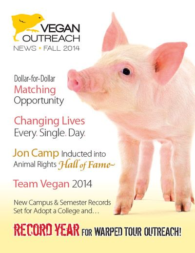Vegan Outreach: Vegan Outreach (VO) was founded in 1993 to move society away from eating animals and their products.