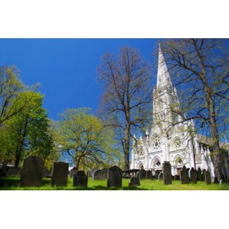 Saint Marys Cathedral Basilica Canvas Art - Kymri Wilt DanitaDelimont (28 x 19)