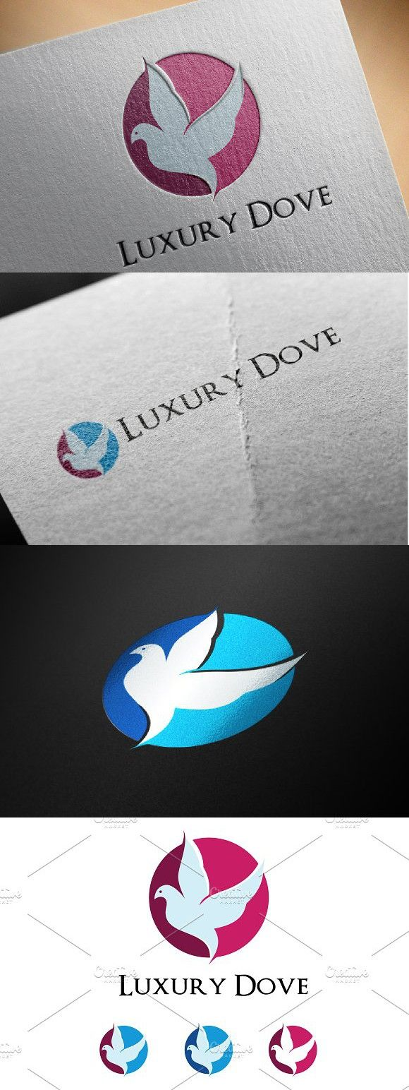 Dove Pigeon Bird Abstract Logo. Pet Icons