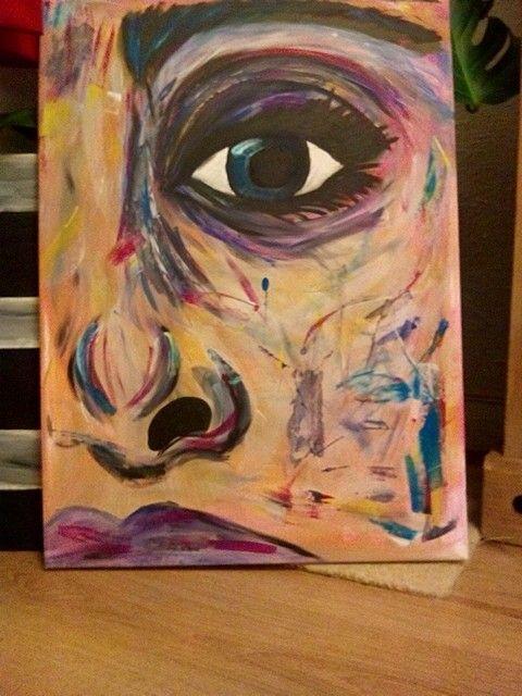 Rainbow eye, handpainted by me