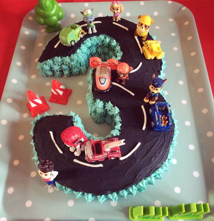 Torta de Paw Patrol. Ideal para una celebración temática.#Pawpatrol #torta