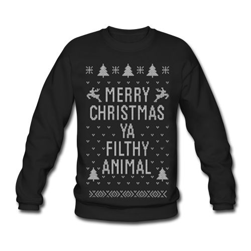 Merry Christmas YA FILTHY Animal Funny You Ugly Sweater Sweatshirt