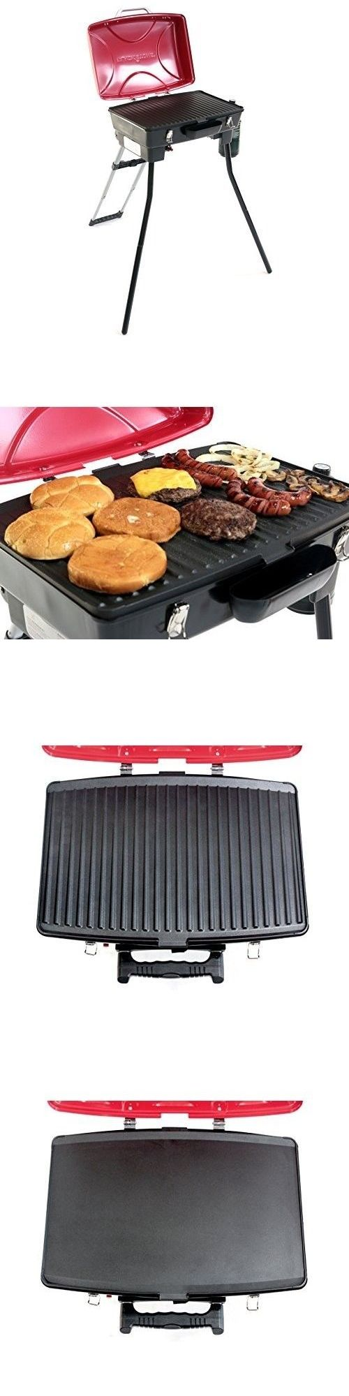 Camping BBQs and Grills 181388: Portable Gas Bbq Grill Griddle Combo Outdoor Yard Tailgate Camping Patio Propane -> BUY IT NOW ONLY: $129.46 on eBay!