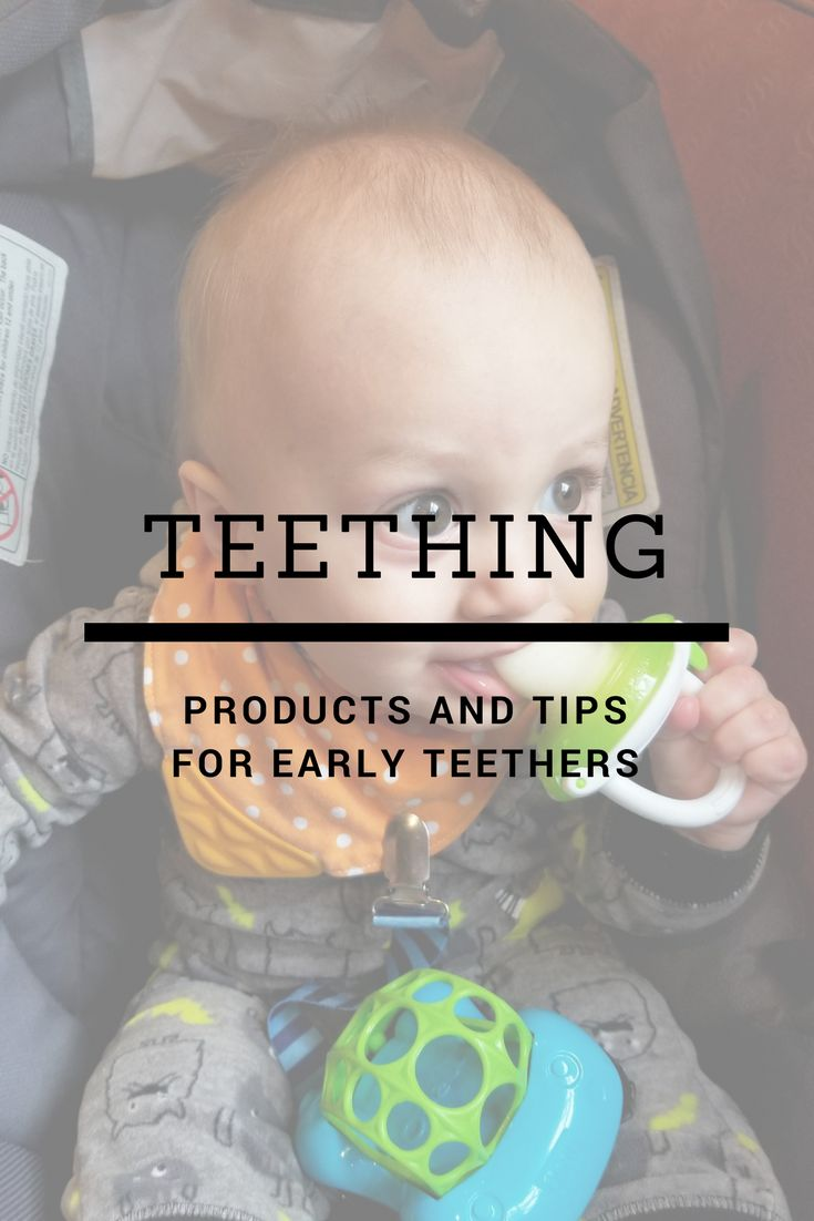 How to help soothe pain from early teething. My son was three months old when he started teething here the tips and remedies that worked for me.