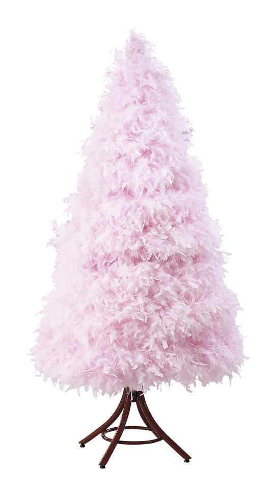 I Want A Pink Feather Xmas Tree Come Holiday Season