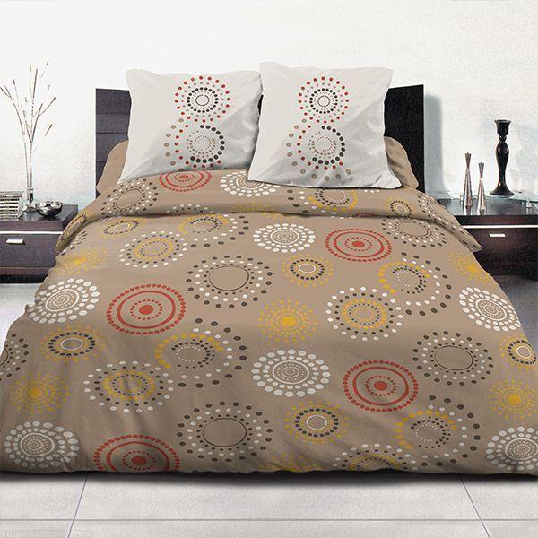 parure de couette coton 220x240 cm feu d 39 artifice taupe 29 90 le linge de lit petit prix