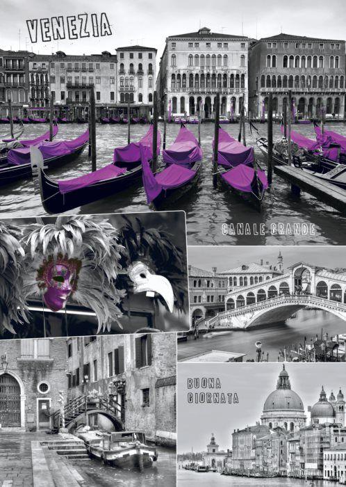 Puzzle DINO 1000 dílků - Benátky, Itálie - koláž