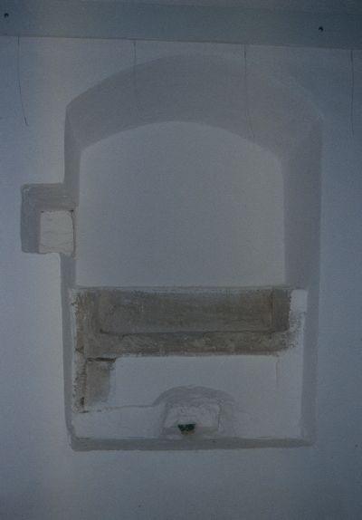 A nyírbátori plébániatemplom - lavabó (kézmosó) fülke képe a sekrestyében
