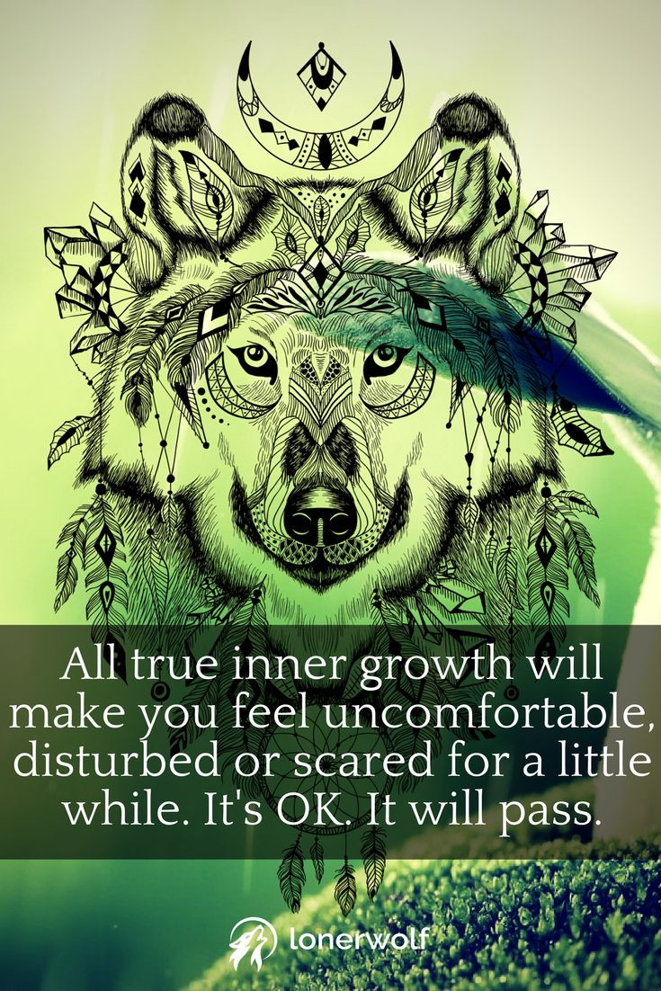 True inner growth, genuine self-growth, can be INTENSELY uncomfortable at times. It's just the way it has to be.