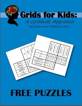 A free book of logic puzzle for children.  Happy puzzling!!