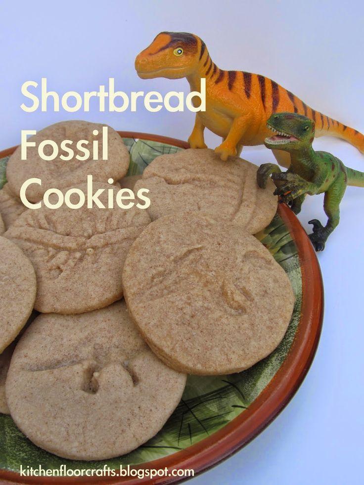 Kitchen Floor Crafts: Shortbread Fossil Cookies