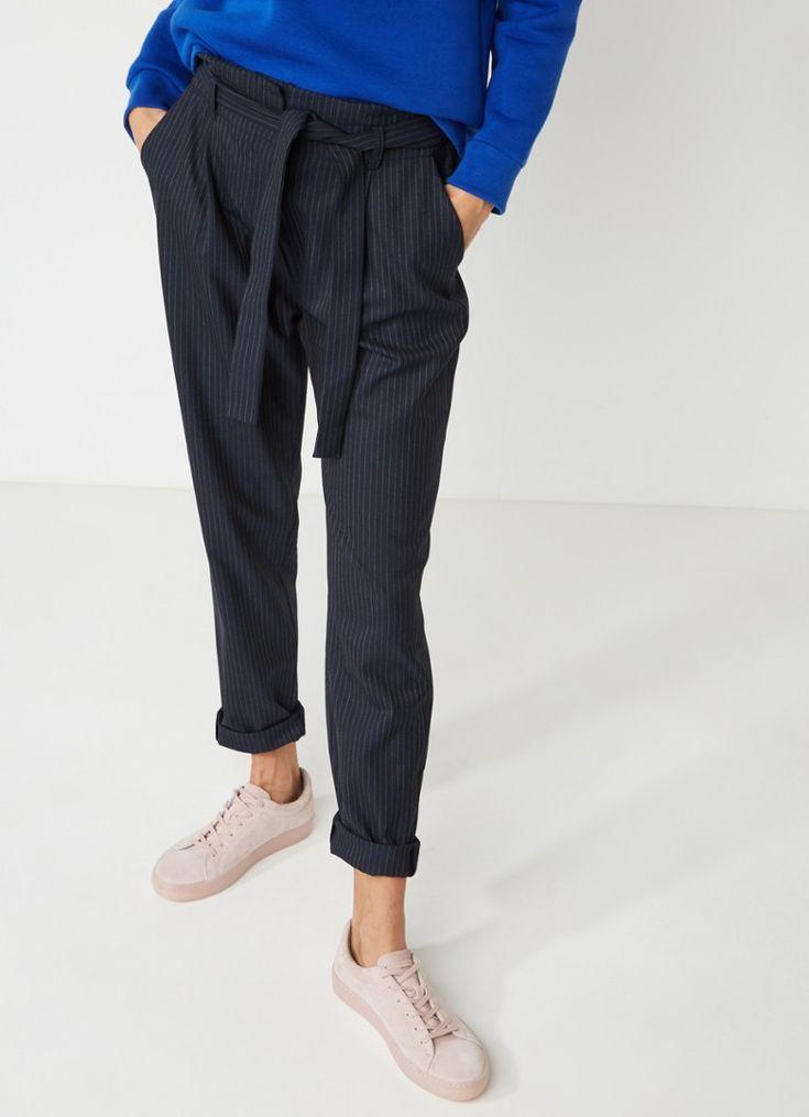 Sissy-Boy Blos pantalon met krijtstreep en ceintuur