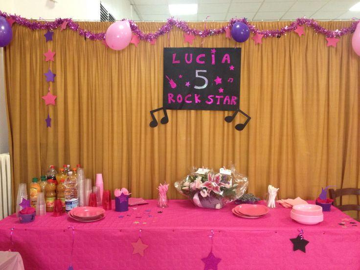 Decorazioni per festa di compleanno a tema Rock - Rock star music party