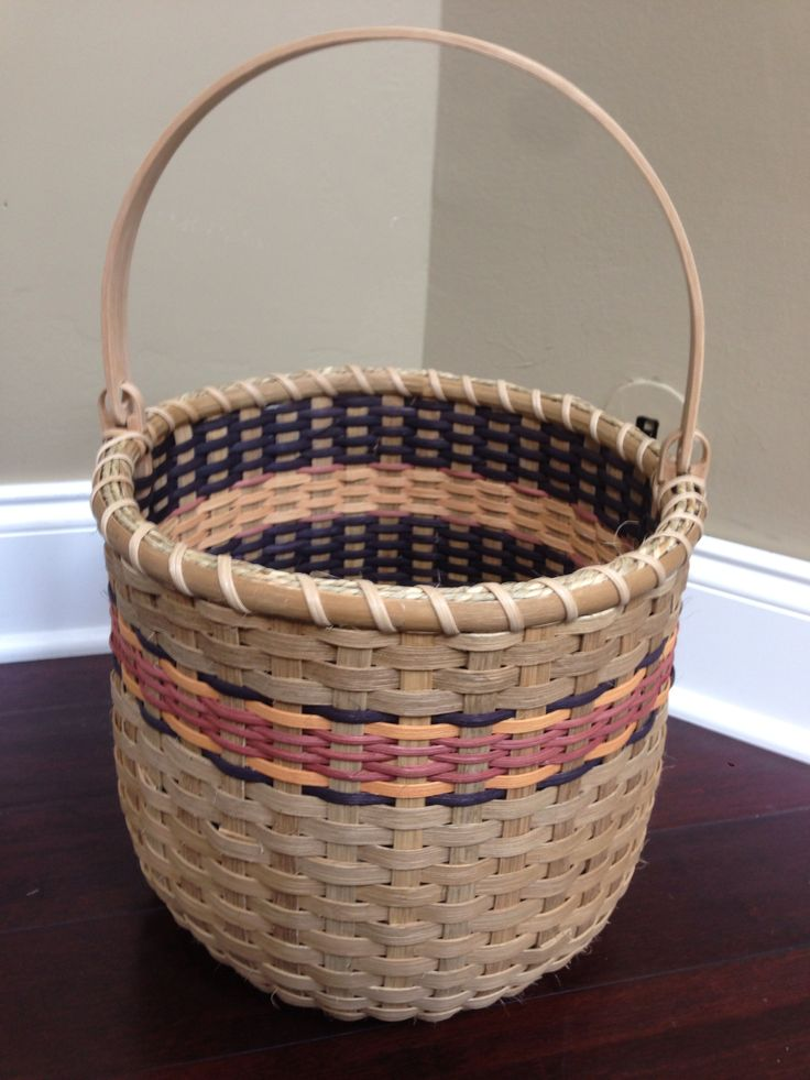 42 Sandy's Harvest Moon double walled basket (Sandy Bulgrin class)