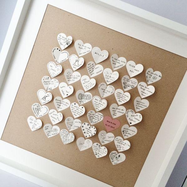 Einzigartiges Hochzeitgästebuch - Vintage Look  von Kreative Papeterie für Hochzeit, Geburt und Geburtstag! auf DaWanda.com