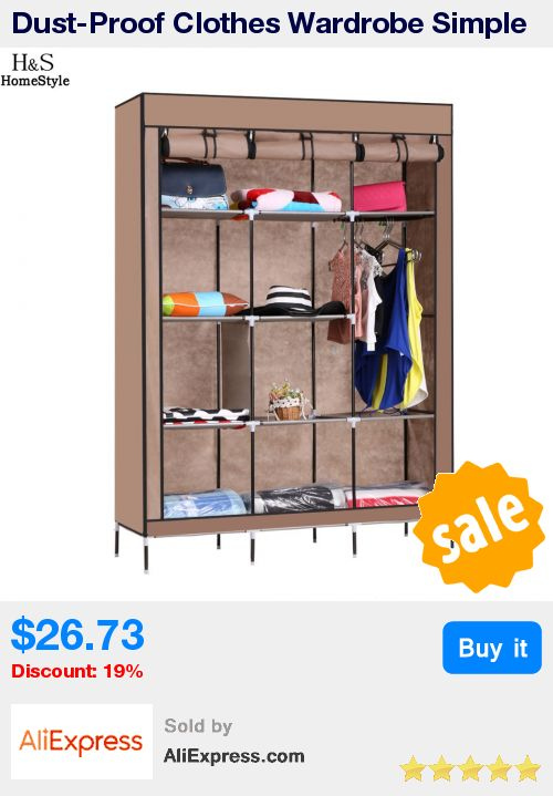Dust-Proof Clothes Wardrobe Simple Portable Cloth Closet Sundries Storage Organizer Cabinet Shoe Rack With Shelves * Pub Date: 14:30 Apr 15 2017