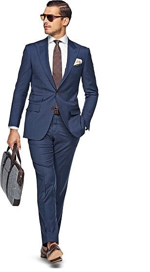 Peak Lapeled Navy Washington Suit #SuitSupply