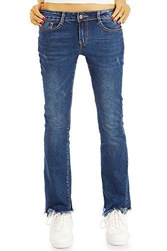 e545c18befa1 BestyledBerlin - Jeans - Bootcut - Femme - Bleu - W40