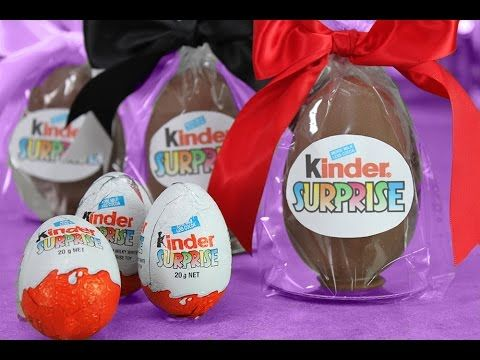 Giant Kinder Surprise - DIY Kinder Eggs with My Cupcake Addiction & Fluf...