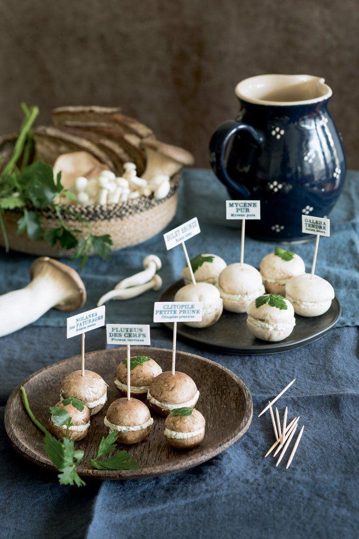 Cuisiner des champignons comme des petits macarons