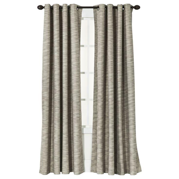 Uptown Striped Light Blocking Curtain Panel Tan - Threshold