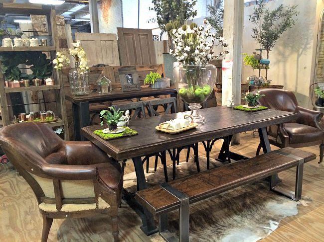 URBAN FARMHOUSE DESIGNS {SHOP OKC}Would love bench as a sofa table! XO