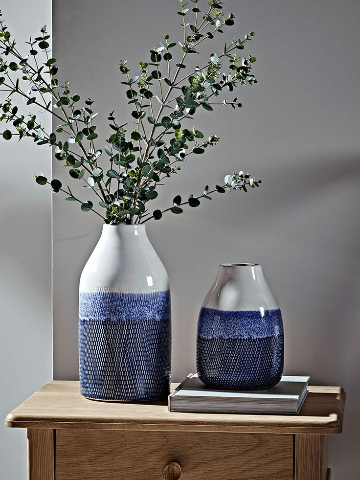 NEW Two Tone Blue Vases