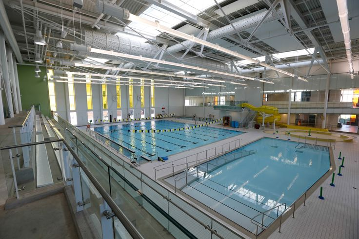 The aquatics centre in cornell community centre featuring a swimming pool therapy pool and for Community center toronto swimming pool