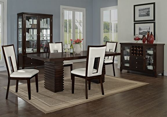 American Signature Furniture  Luna Pearl Ii Dining Room 5 Pc Brilliant City Furniture Dining Room Design Decoration