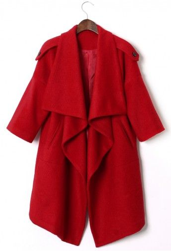 Chicwish Drape Red Cape - Retro, Indie and Unique Fashion